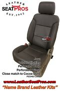 Leather Seat Covers Kit 2014-2018 Chevrolet Silverado Crew Double Cab Java Perf