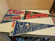 Nhl Trench And Wincraft 1989-91 Hockey Pennants Nos New Qty 4 Vintage Licensed
