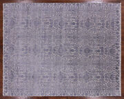 8and039 1 X 10and039 0 Traditional Hand Knotted Wool And Silk Area Rug - Q3857