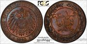 German East Africa 1 Pesa 1890 Ms65 Rb Pcgs Km1 Frosty And Colorful Tone