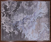 8and039 1 X 10and039 0 Abstract Handmade Wool And Silk Rug - Q3884