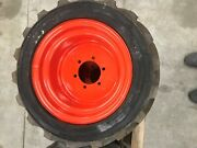 26x12d380 Outrigger Otr Foam Filled Non-marking Tire And Wheel 2612d380 Set Of 4