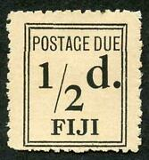Fiji Sgd5a 1917 1/2d Black Narrow Setting Post Due Mint No Gum As Issued