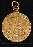 Love Token Engraved Fc 5 Five Dollar Gold Coin Necklace Pendant Charm