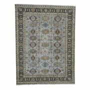 8and03910x11and0399 Karajeh Design Pure Wool Hand-knotted Oriental Rug R42931