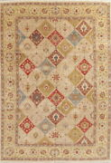 Vegetable Dye Garden Design Floral Agra Oriental Area Rug Hand-knotted 10x14