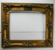 Antique Ornate Fashion Show Plate Store Display Gold Gesso Picture Frame