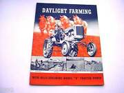 Allis Chalmers B Farm Tractor Brochure From The 1930and039s 24 Pages