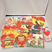 Vintage Mixed Lot Of 10 Greeting Cards Valentineandrsquos Day Plus One Birthday Card