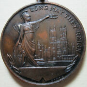 1937 George Vi And Queen Elizabeth Medallion - Long May They Reign Token. Rj641