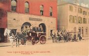1910 Pioneer Engine Co. 2 House Cor. So. Main And Coin Sts Providence Ri Postcard