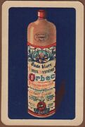 Playing Cards Single Card Old Orbec Genever Gin Alcohol Advertising Bottle Art 3