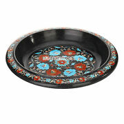 14x14and039and039x4.5and039and039 Marble Fruit Bowl Turquoise Hakik Stone Inlay Mosaic Decor H3642