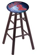 Oak Counter Stool In Dark Cherry Finish With Oleand039 Miss Seat By The Holland Ba...