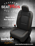 Leather Seat Covers 2018-21 Jeep Wrangler Jl Sahara Sport S Rubicon Black Red