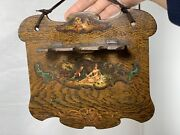 Antique Hand Made Wooden Rack Stand Rest Holder For 3 Tobacco Pipes / Spoons