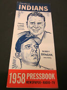 1958 Cleveland Indians Media Guide Press Book Yearbook Baseball Program Ad