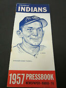 1957 Cleveland Indians Media Guide Press Book Yearbook Baseball Program Ad