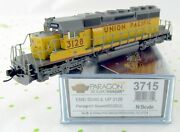N Scale Emd Sd40-2 Locomotive W/dcc And Sound - Union Pacific 3128 - Bli 3715