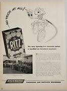 1950 Print Ad Nabisco Ritz Crackers Made On Pneumatic Packaging Machines