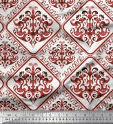Soimoi Fabric Floral And Geometric Ethnic Fabric Prints By Yard - Et-34b