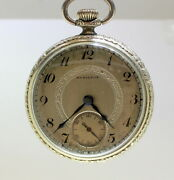 Hamilton Gold Plated Antique Pocket Watches With 17 Jewels