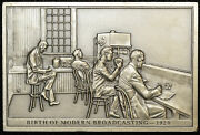 Modern Broadcating 1920 73 Franklin Mint Bicentennial History Us Pewter