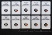 Finland 1 Penni 1895-1915 Ngc Uncirculated Complete 18 Date Coin Set Scarce