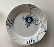 Royal Copenhagen Large Blue Fluted Plate 627 10 And 3/4 Set Of 10