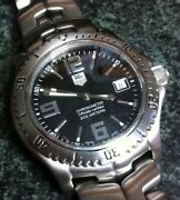 Tag Heuer Link Chronometer Watch Auto 20 Bar Date Ss Case And Bezel Ss Band