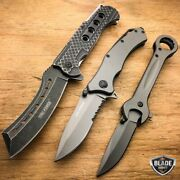 3pc Tac Force Razor Assisted Spring Open Folding Pocket Knife + Wrench Tool Set