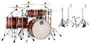 Mapex Armory Redwood Burst Studioease 6pc Shell Pack Drums +hp8005 Hardware Pack