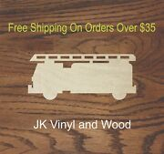 Fire Truck Laser Cut Wood Sizes Up To 5and039 Crafting A539 Craft Wood