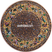 White Collectible Marble Dining Top Table Gemstone Inlay Decorative Garden H3964