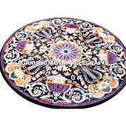 White Outdoor Dining Table Top Marquetry Inlaid Pietradure Furniture Decor H3008