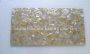 18x24 Marble Coffee Bedroom Table Top Yellow Mother Of Pearl Inlay Decor E258