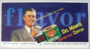 1930's Trolley Car Ad Card By Andrew Loomis For Del Monte Ortho-cut Coffee