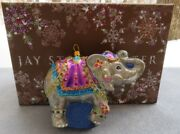 Jay Strongwater Circus Parading Elephant Ornament Elements New In Box