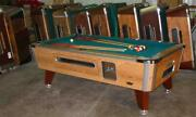 Valley Cougar 7and039 Coin-op Pool Table Model Zd6 In Green Also Avail In 6 1/2and039 8and039