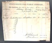 May 1861 Confederate Document Mcnary's Tennessee Cavalry Walter Brown