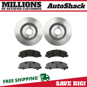 Front Disc Brake Rotors And Performance Ceramic Pads Kit For Chevy Impala 3.5l V6