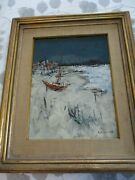 Original Signed Sol Wilson Oil On Canvas Painting The Beach Provincetown Mass.