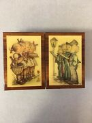 Original Hummel Double Jewelry Music Box Impossible Dream Italy Wood Inlay
