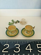 Antique Doll House Miniatures Rare Lot German Treenware, Glass, Pottery Frogs