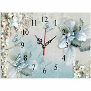 Wall Clock Diamond Painting Flowers And Butterfly Design Embroidery House Mosaic