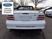 1997 Ford Mustang Letters Rear Bumper Inserts Vinyl Decals Stickers Gt And V6