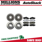 Front And Rear Disc Brake Rotors And Ceramic Pads Kit For Chevy Trailblazer Ext 4.2l