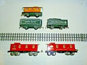 Marx Lot Of O Gauge Freight Cars With Two Lionel Prewar Cabooses