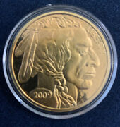 2009 - Mint Tribute Coin Collection Token Buffalo Copy Gold Plated I0965