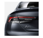 Genuine Audi Led Rear Set Of Taillights Dark-tinted Left / Right 8w6052100
